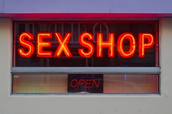 Façade de sex-shop