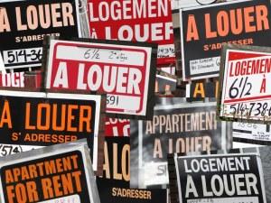 LBF à Louer pancartes