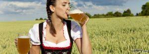 LBF femme boit bière