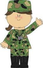 LBF femme soldat animée